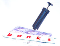 Restructuring the banks; Pound Sterling. Stock Photography
