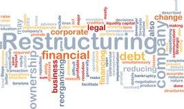 restrukturyzacja obłoczny słowo Zdjęcia Stock