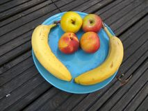 Fruits plate - healthy breakfast 3 royalty free stock photography