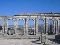 Rests of Volubilis Royalty Free Stock Photos