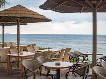 Restuarant by the Mediterranean Sea Royalty Free Stock Images