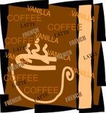 resturant Menüanzeige des Kaffees   Lizenzfreies Stockfoto