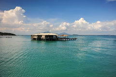 Resturant in sea. With blue sky Stock Image
