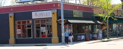Resturant van Mulan in het Historische kuiper-Jonge District stock foto