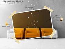 Restyling projekt för gul plats vektor illustrationer