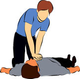 Resucitación cardiopulmonar o CPR Imagen de archivo libre de regalías