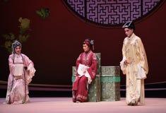 """Resuelva con el  del oeste de Chamber†del """"the de la ópera de la hijo-en-ley-Kunqu de la suegra foto de archivo"""