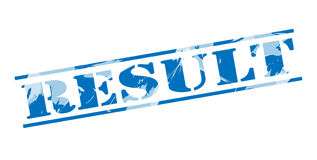 Result blue stamp Royalty Free Stock Photography
