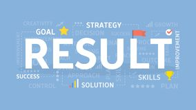 Result concept illustration. Idea of growth, analysis and success Stock Photography