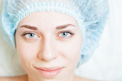 Result after cosmetology treatment of rejuvenation and correction of eyebrow Royalty Free Stock Images