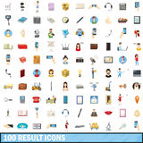 100 result icons set, cartoon style Royalty Free Stock Photo