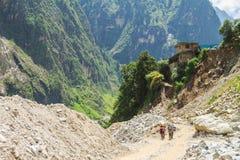 Result of landslide. The result of landslide after flooded in India Royalty Free Stock Image