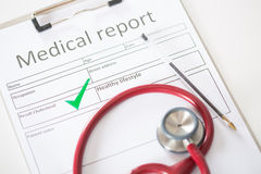 Result of a medical analysis Stock Images