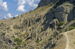 The result of the weathering of rock. Crimea. Royalty Free Stock Image