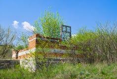 Resultado da crise - construção inacabado da casa Fotografia de Stock