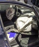 Resultado do acidente de trânsito no Madri Fotos de Stock