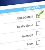 Resultado impressionante em uma avaliação. ilustração Foto de Stock