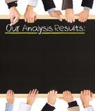 Resultados da análise Imagem de Stock Royalty Free