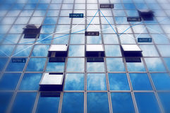 Resultados de negocio en concepto del mercado de acción Imagen de archivo libre de regalías
