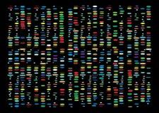 Resultados do ADN ilustração royalty free