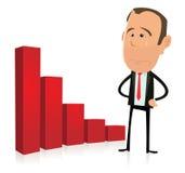 Resultados do gráfico de barra - depressão Imagens de Stock Royalty Free