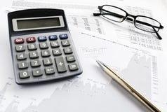Resultados financieros Foto de archivo libre de regalías