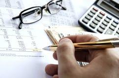 Resultados financieros Imagen de archivo libre de regalías