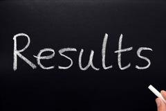 Resultaten. Royalty-vrije Stock Fotografie
