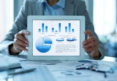 Resultaten van de analyse Stock Fotografie