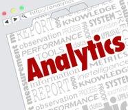 Resultaten van de de Hulpmiddelenmaatregel van Internet van de Analyticswebsite de Online stock illustratie