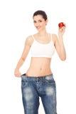 Resultaten van gezond dieet, concept Stock Foto