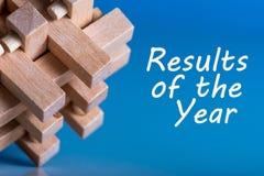 Resultaten van het jaar het overzicht van 2017 Tijd om doelstellingen samen te vatten en te plannen voor volgend jaar Bedrijfs ac Royalty-vrije Stock Foto