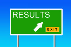 Results. Getting good results in education, career, business and life Royalty Free Stock Images