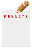 Results. Setting goals and targets, and looking at the results in life and business Stock Photography