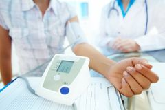 Results of blood pressure Royalty Free Stock Image