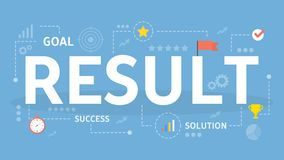 Results concept illustration. Idea of profit and success Stock Photo