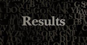 Results - 3D rendered metallic typeset headline illustration Stock Photography