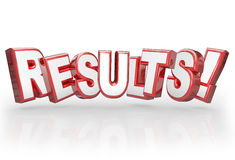 Results 3D Word Accomplishment Outcome Achieve Goal Royalty Free Stock Photo