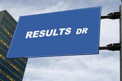 Results Drive Stock Image