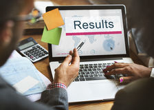Results Efficiency Evaluate Outcome Progress Concept. Results Efficiency Evaluate Outcome Progress Royalty Free Stock Photography