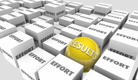 Results Effort Hard Work Goal Success Achieved. 3d Illustration Royalty Free Stock Images