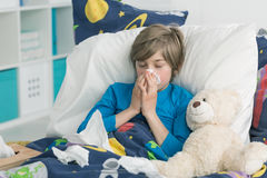 Results of flu epidemics in school Royalty Free Stock Images