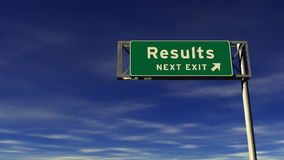 Results Freeway Exit Sign stock footage