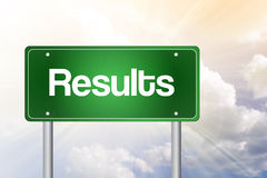 Results Green Road Sign Royalty Free Stock Photo