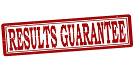 Results guarantee. Stamp with text results guarantee inside,  illustration Royalty Free Stock Image