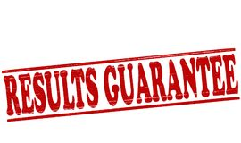 Results guarantee. Stamp with text results guarantee inside,  illustration Royalty Free Stock Photos