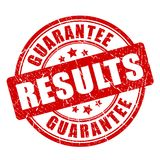 Results guarantee vector stamp. Illustration isolated on white background Stock Image