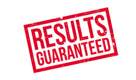 Results Guaranteed rubber stamp Stock Photography