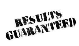 Results Guaranteed rubber stamp Stock Image