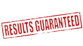 Results guaranteed. Stamp with text results guaranteed inside,  illustration Royalty Free Stock Photography